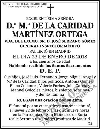 M.ª de la Caridad Martínez Ortega